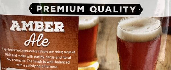 Crafted amber ale