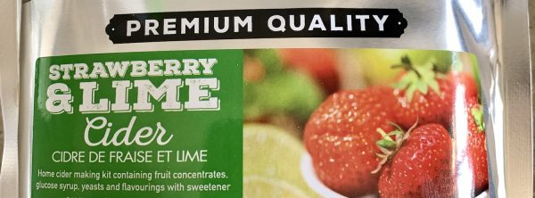 Strawberry Lime Cider