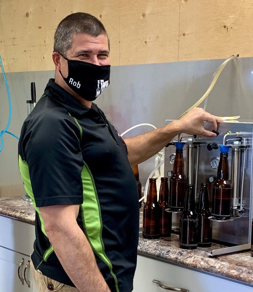 Rob smiling beer barrel